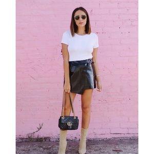 J.O.A. Patent Mini Skirt in Black NWT
